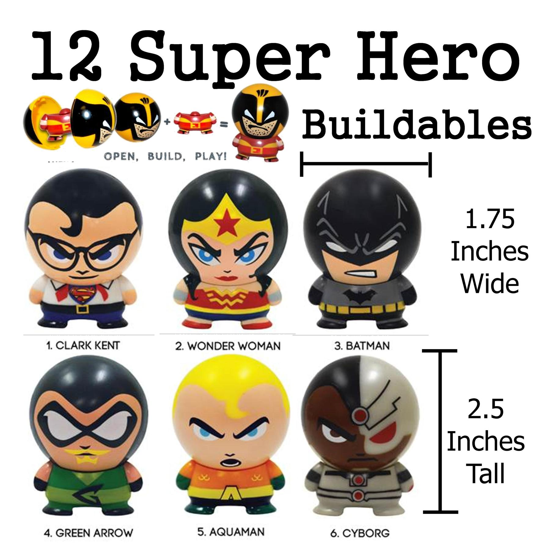 36 Pc Superheroes Buildables Party Favor Pack My Cms