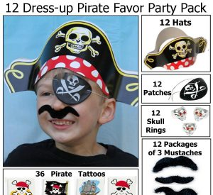 Pirate Party Favors for 12 pirates