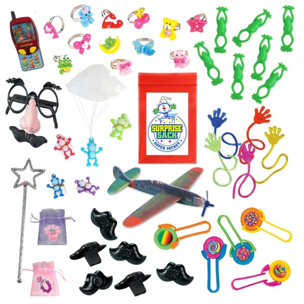 124 pc Toy Assortment for party favors, pinata filler, student prizes, prize box