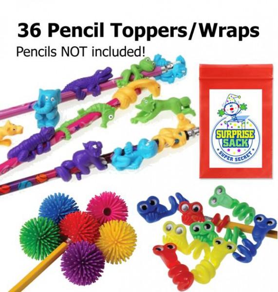 36 Pencil Fidget toppers