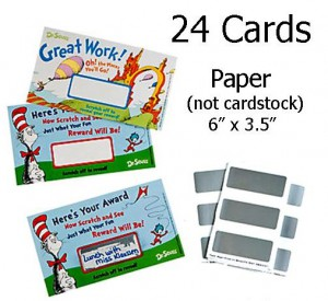 Dr. Seuss Reward Scratch Cards