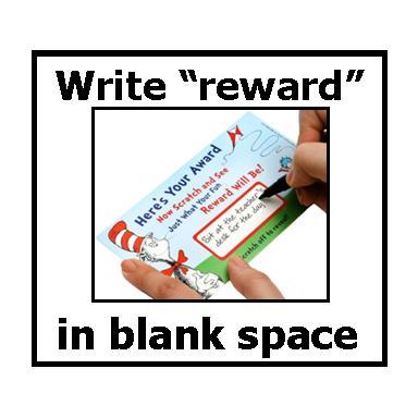 Dr. Seuss Scratch reward cards