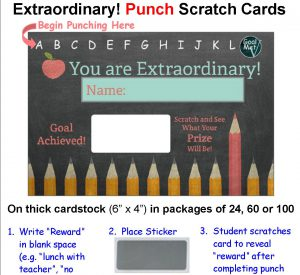 classroom punch reward scratch off tickets