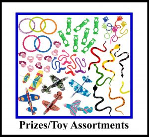 Prizes and Toy Assortments - Click on Icon for more information