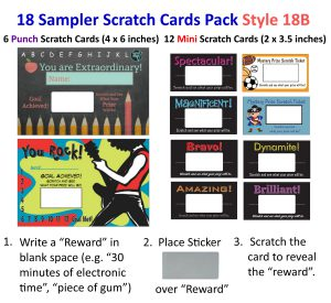 18 Sample Scratch Card Pack. Perfect to sample our Scratch Cards.