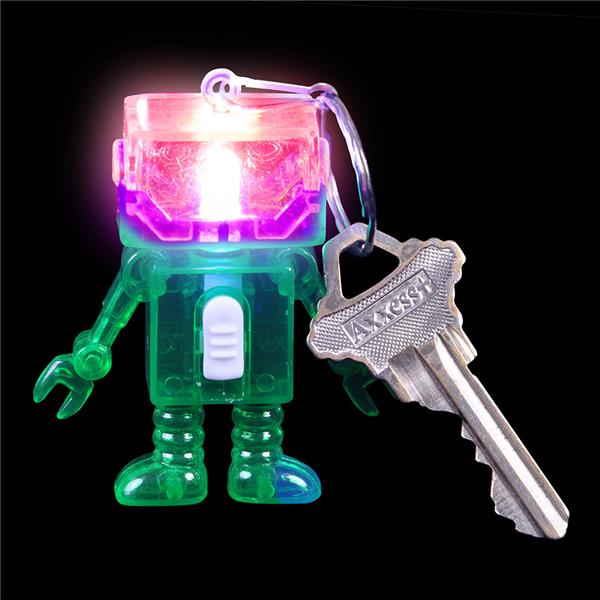 Light up robot keychain party favor