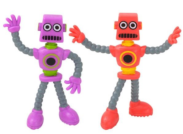 Purple and Red Robot Fidgets