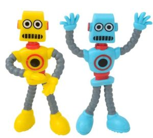 Yellow and Blue Bendable Robot Fidget