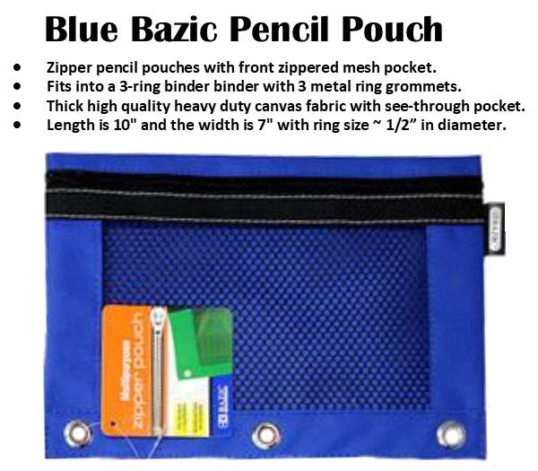 Blue Bazic Pencil Case