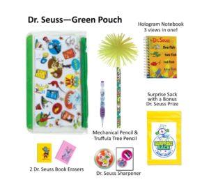Dr. Seuss Green Pencil Pouch, Dr. Seuss Pencils, Dr. Seuss Gifts