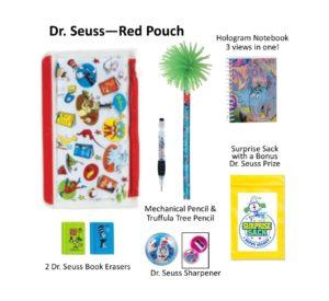 Dr. Seuss Red Pencil Pouch, Dr. Seuss Pencils, Dr. Seuss Gifts