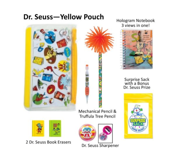 Dr. Seuss Pencil Pouch, Dr. Seuss Pencils, Dr. Seuss Gifts