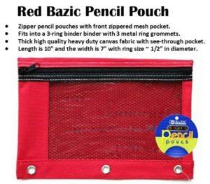 Red Pencil Case