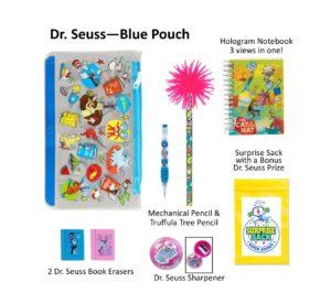 Dr. Seuss Blue Pencil Pouch, Dr. Seuss Pencils, Dr. Seuss Gifts