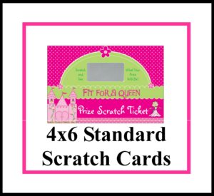 """4"""" x 6"""" Standard Reward Scratch Cards"""