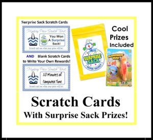 Scratch Cards with Secret Sack Prizes Included